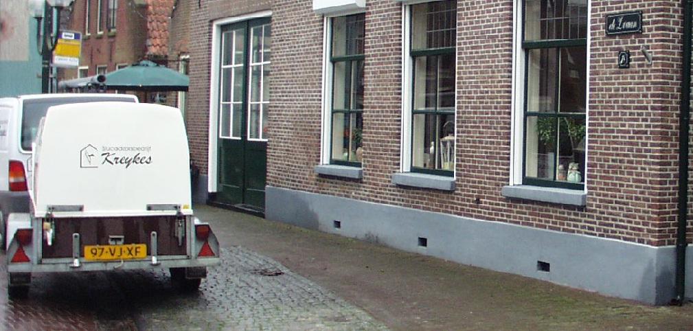 Complete Badkamer Alkmaar ~ Een traditioneel trasraam is een cementplint, die vroeger werd